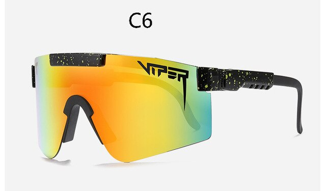 Pit viper flat top eyewear tr90 blue frame mirrored lens windproof sport polarized sunglasses for man/woman PV01