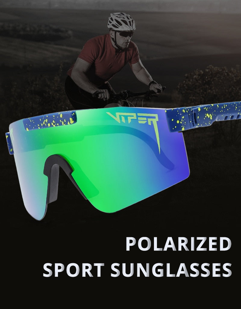 High Quality pit viper flat top eyewear tr90 mirrored lens windproof sport fashion polarized sunglasses for man / woman UV400