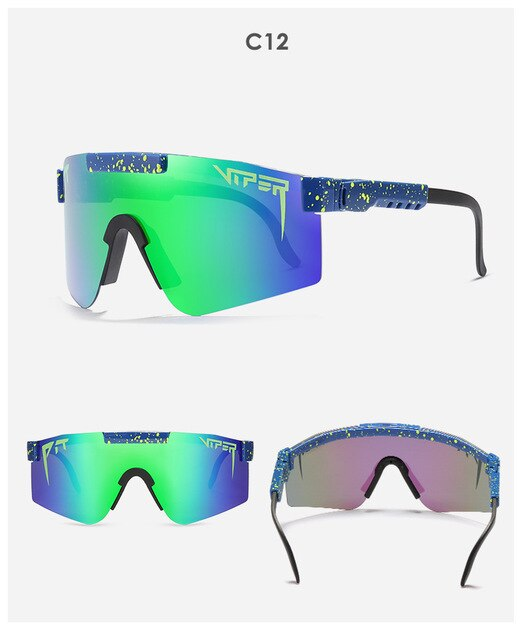 Original Pit Viper Sport google TR90 Polarized Sunglasses for men/women Outdoor windproof eyewear 100% UV Mirrored Siamese lens