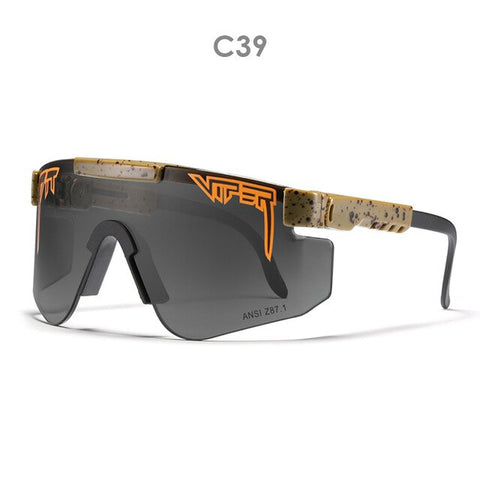 Pit Viper Sports Unbreakable TR90 Frame Sunglasses Men Women Polarized  Anti-UV Mirror Lenses Outdoor Windproof Sun Glasses PV02