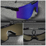 2020 pit viper flat top eyewear tr90 blue frame mirrored lens windproof sport fashion polarized sunglasses for man  woman uv400