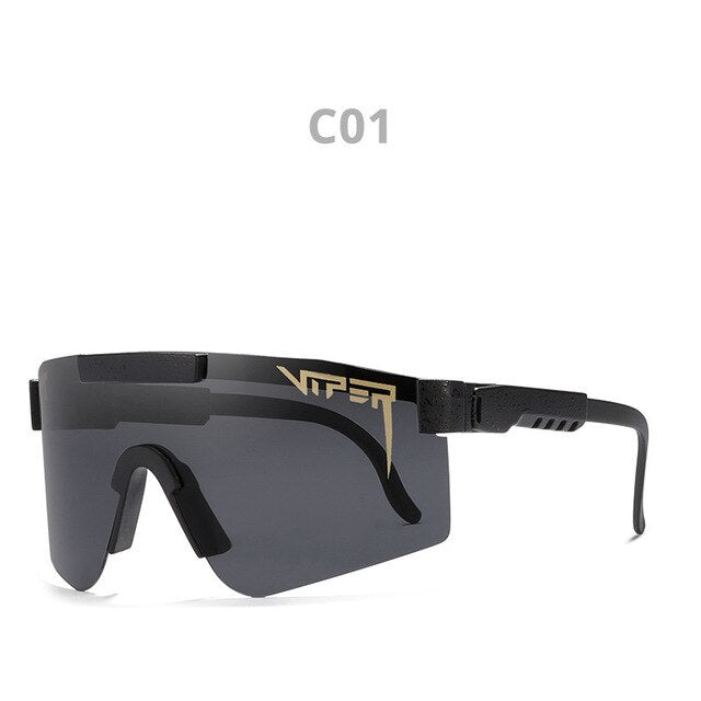 Brand Design Polarized  Sunglasses for Men Vintage Oversized Sun glasses  Driving Climbing Sports Luxury Eyewear Pit Viper