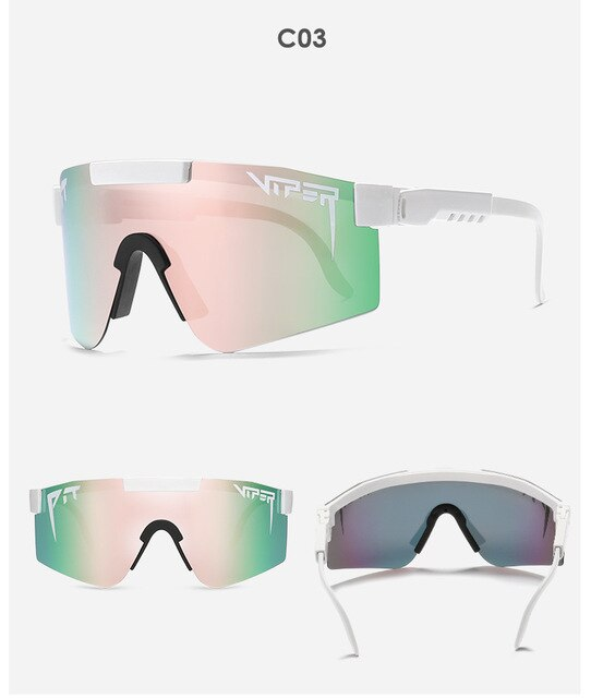 Pit Viper Flat Top Eyewear TR90 Blue Frame Mirror Lens Windproof Sport Polarized Sunglasses Windproof Fashion Cycling Sunglasses