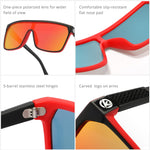 2020 Hot Selling Oversized Sports Sunglasses One Piece Polarized Driving Shades KDEAM Men Women Fashion Sun Glasses With Box