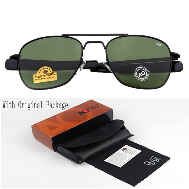 Fashion Sunglasses Men American Army Military Brand Designer AO Sun Glasses For Male Optical Glass Lens  de sol RS263