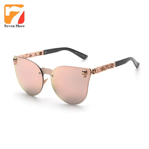 2017 Fashion Luxury Sunglasses Women Retro Brand Designer Skull Sun Glasses For Ladies UV400 Anti-Reflective Female Oculos Gafas