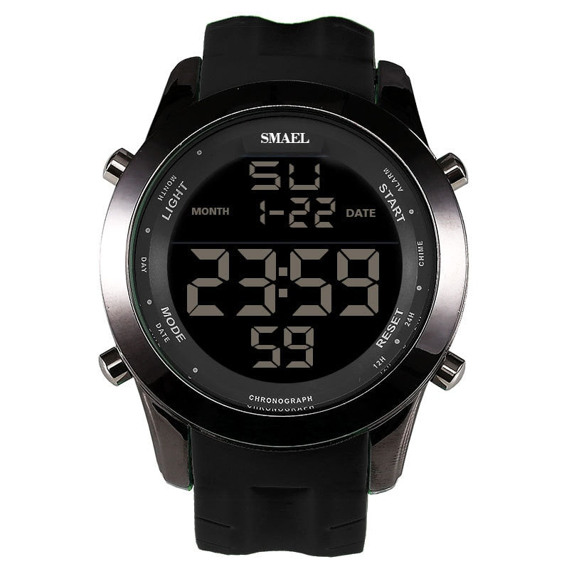 SMAEL Brand LED Watch Men Sport Watch Stop Watch Chronograph Auto Date 1076 Wrist Watch Running Digital Male Watches Shock Homme