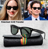 JackJad Fashion JJ2140 Polarized Traveler Style Sunglasses Vintage Classic Brand Design Sun Glasses 50mm Oculos De Sol With Case