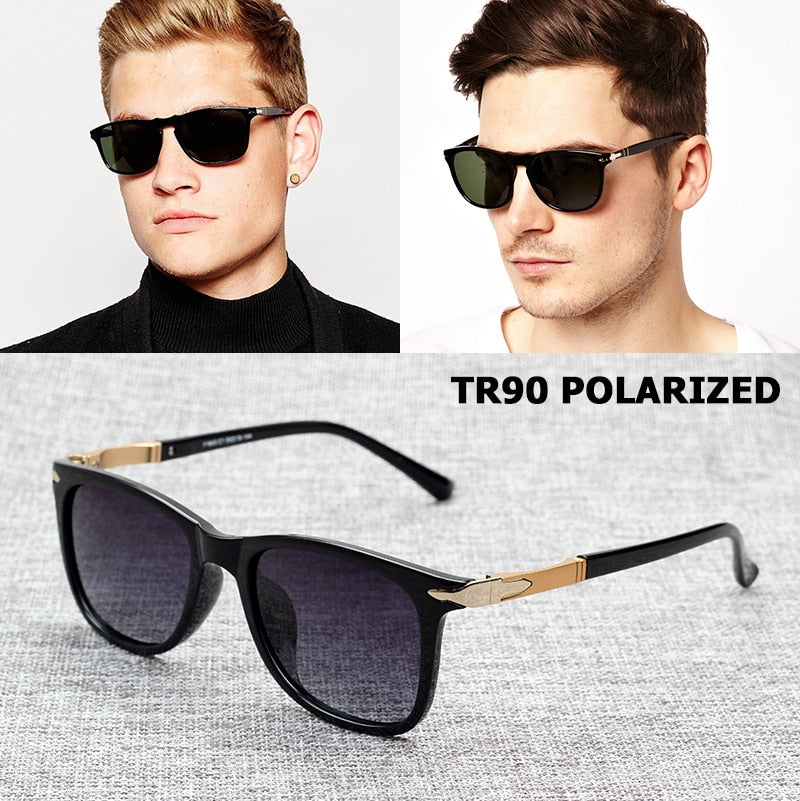 JackJad Fashion TR90 POLARIZED Square Style Gradient Sunglasses Men Ultralight Driving Brand Design Sun Glasses Oculos De Sol