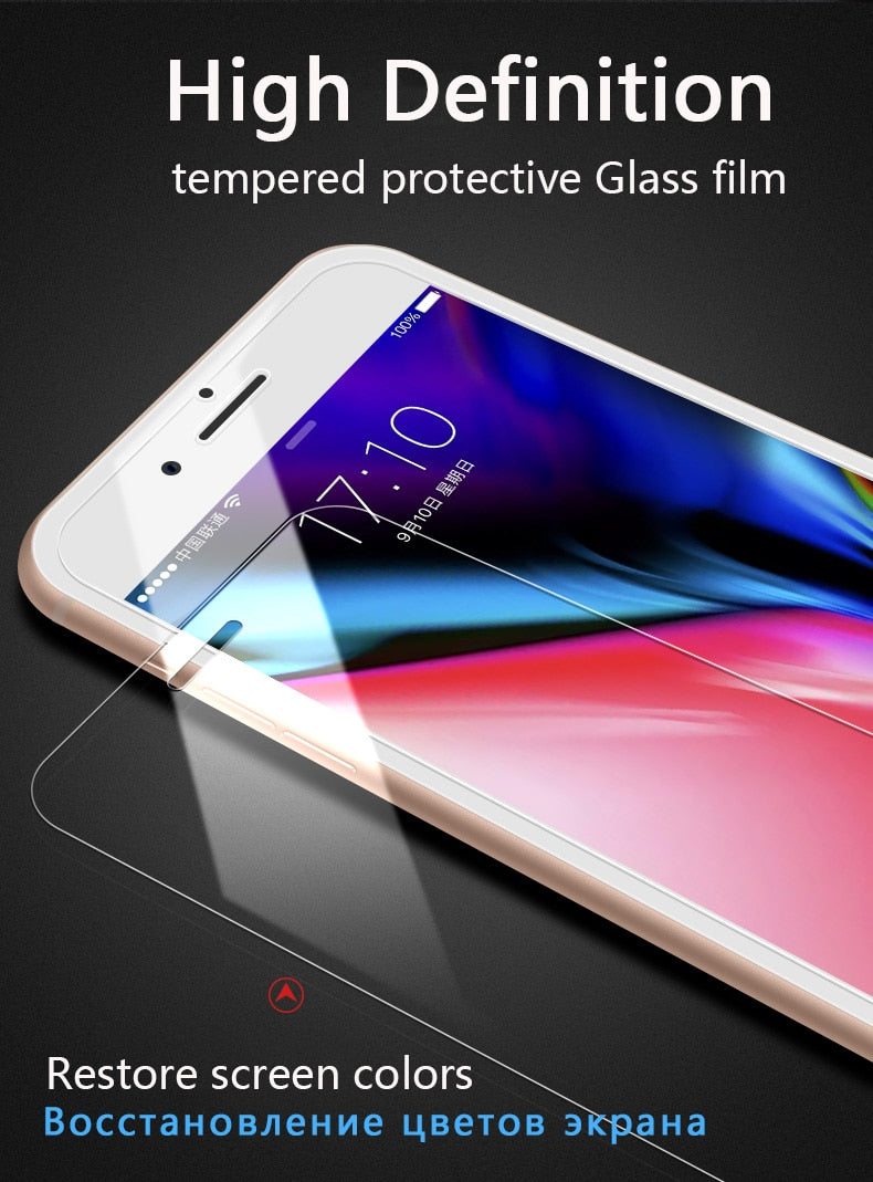 Protective tempered glass for iphone XS max XR 7 8 x screen protector glass on iphone 7 6S 8 6 plus 5 s se glass film Protection