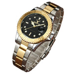 Deerfun brand Men watch business Water ghost diamond fashion calendar luxury waterproof quartz wristwatch Relogio Masculino