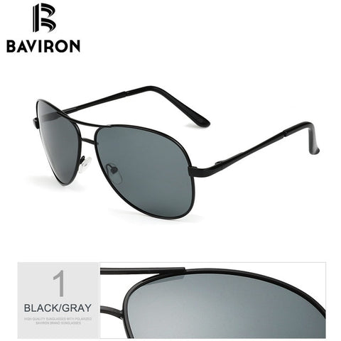 BAVIRON Classic Pilot Sunglasses For Man Colorful Mirrored Polarized Sun Glasses Blank Package For Dropshipping Model