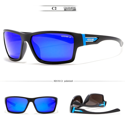 KDEAM Unmistakable Design Polarized Sunglasses Sport For Men Sun Glasses Fresh Coating Lens Anti-collision Case Include