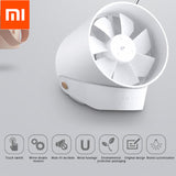 Original Xiaomi VH Mini Fan Portable Ventiladors USB Mijia Fan Ultra Quiet Smart Touch Summer Cooler Double Leaf Desktop Fan