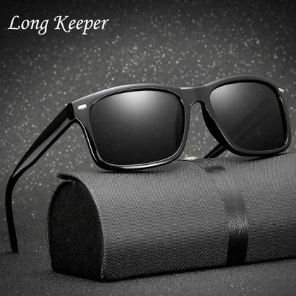 Long Keeper Men Sunlasses Night Vision Glasses 100% Polarized Sunglasses Car Driver Goggle Polarized Driving Sun Glasses KP1030