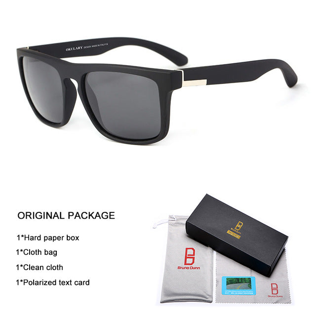 Bruno dunn Sport Sunglasses Polarized Men For driving Sun Glases male Square Color Mirror Luxury Brand Designer zonnebril mannen