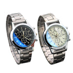 TZ#501 Stainless Steel Sport Quartz Hour Wrist Analog Watch mens watches top brand luxury automatic mechanical wri Free Shipping