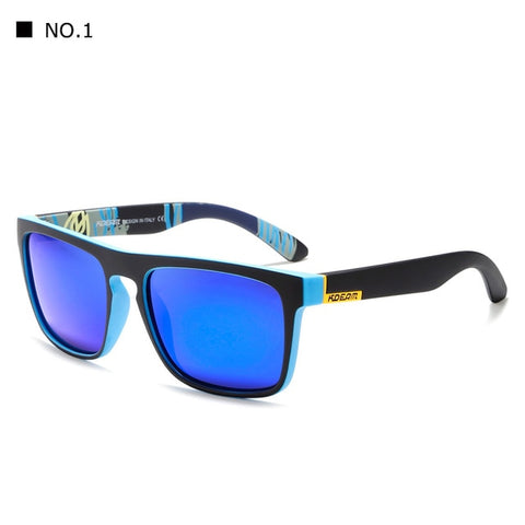 New arrived KDEAM Mirror Polarized Sunglasses Men Square Sport Sun Glasses Women UV gafas de sol Metal hinge UV400 KD156