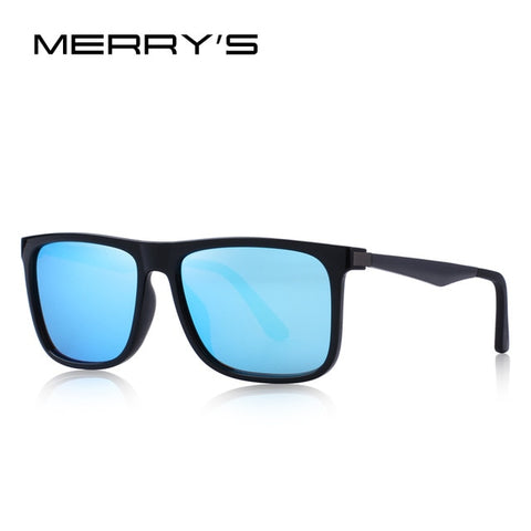 MERRYS DESIGN Men Polarized Square Sunglasses Fashion Male Eyewear Aviation Aluminum Legs 100% UV Protection S8250