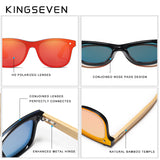 KINGSEVEN 2019 Bamboo Polarized Sunglasses Men Wooden Sun glasses Women Brand Original Wood Glasses Oculos de sol masculino