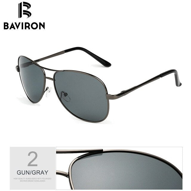 BAVIRON Aviation Sunglasses Men Polarized Designer Pilot Mirror Sunglasses Women uva uvb uv100 Driving Polarized Sun Glass Man