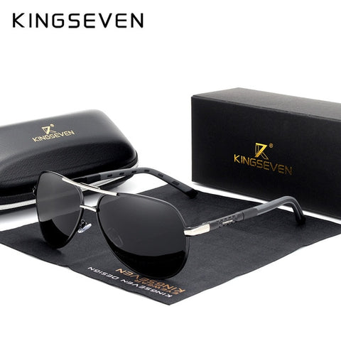 KINGSEVEN 2019 Aluminum Magnesium Men's Sunglasses Polarized Men Coating Mirror Glasses Male Eyewear Accessories For Men Oculos