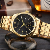 CHENXI Golden Watch Men Watches classical Luxury Famous Wristwatch Male Clock Quartz Wrist Watch Calendar Relogio Masculino