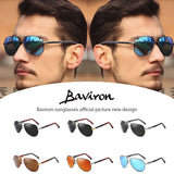 BAVIRON Men Sunglasses Polarized Designer Pilot Sunglasses Men Drop Ship Classic Sun Glasses Vintage Influence Gafas 100% uv400
