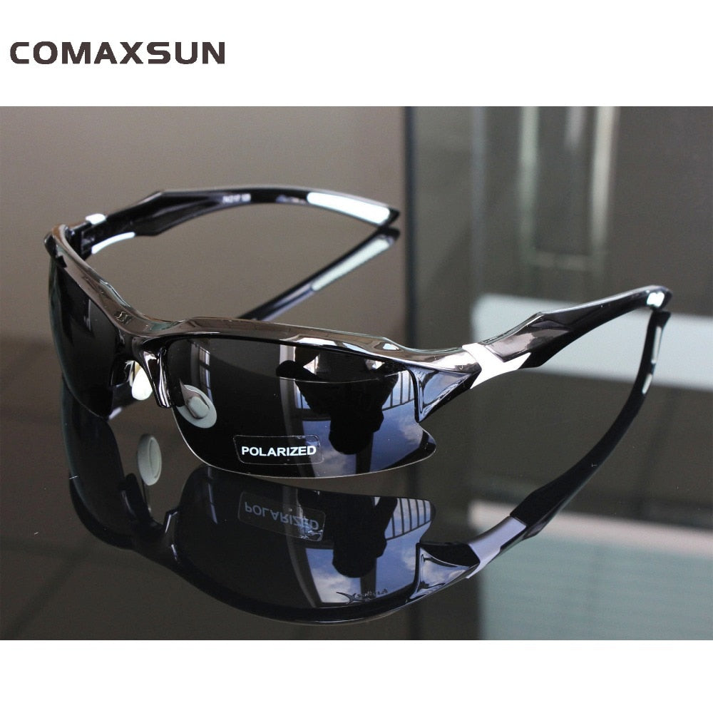 Comaxsun Professional Polarized Cycling Glasses Bike Goggles  Sports MTB Bicycle Sunglasses Eyewear Myopia Frame UV 400