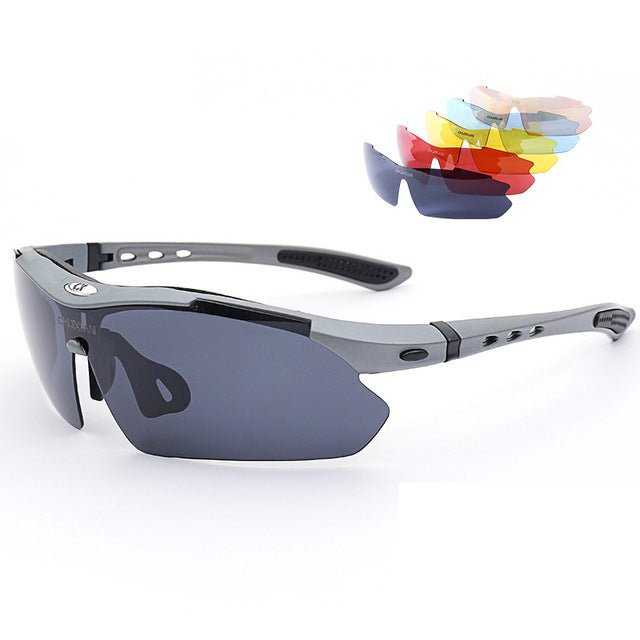 Fishing Use Sunglasses Eyewear with Box Sunglasses UV400 Polarized Fishing Riding&Hiking Eyewear Day/Night Vision Glasses