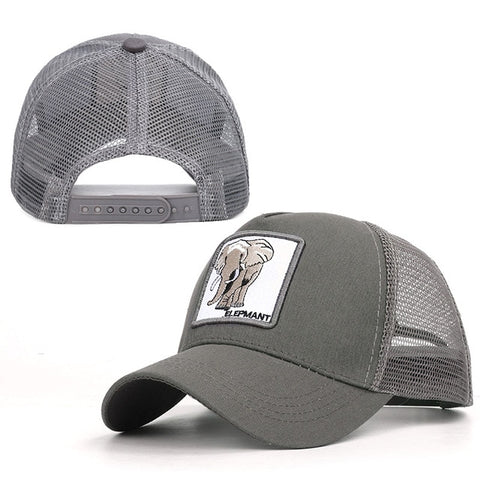 Rooster animal embroidery baseball caps men's and women's universal adjustable high quality outdoor sunshade summer net hats