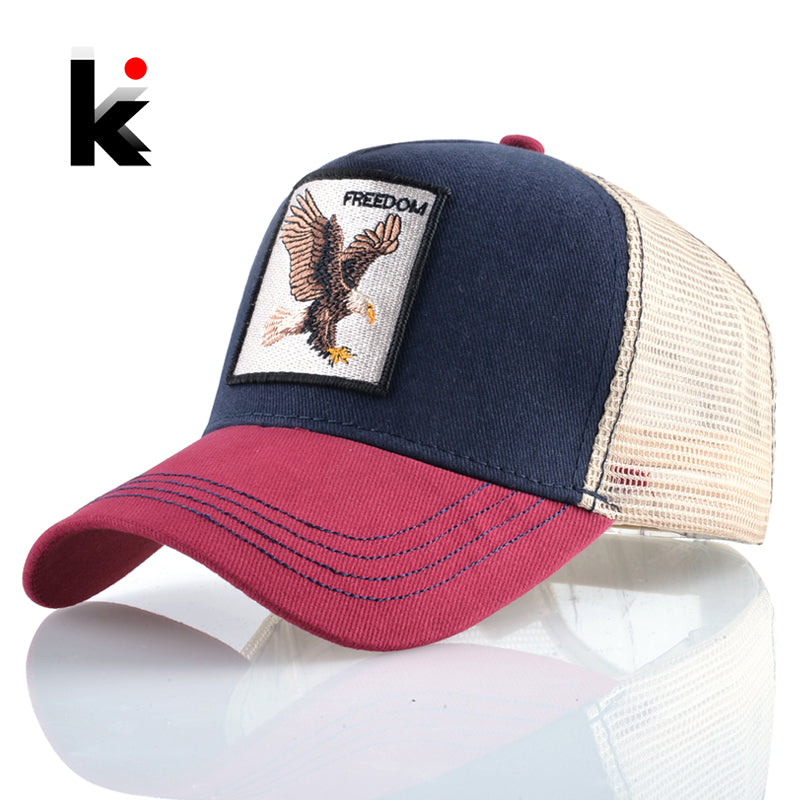 Animals Embroidery Baseball Caps Men Snapback Hip Hop Hat Women Mesh Unisex Streetwear Bones Wholesale Price Dropshipping Cap