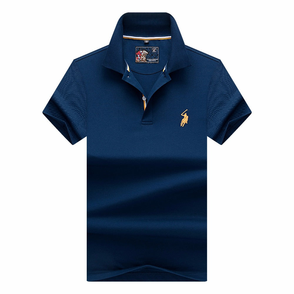 Brand New Fashion Men Polo Shirts 2018 Summer Luxury horse embroidery Breathable Soft Cotton Polo Men