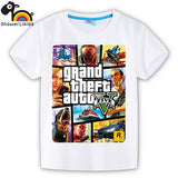 showerlikids quality cotton short sleeve T-shirt boy girl children kid clothing colorful street hot fight GTA 5 sPrice Scolor001