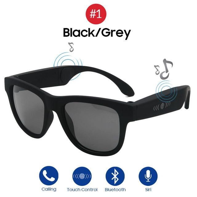 VIVIBEE Bone Conduction Sunglasses Music Zungle 2019 Trending Products Smart Men Women Polarized Audio Sun Glasses