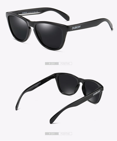 DUBERY Vintage Sunglasses Polarized Men's Sun Glasses For Men UV400 Shades Driving Black Square Oculos Male 8 Colors Model 181