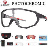 X-TIGER Photochromic Polarized Cycling Glasses Sport Eyewear Bicycle Glass MTB Bike Bicycle Riding Fishing Cycling Sunglasses