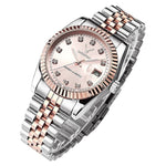 2019 Luxury Rolexable Fashion Women Watch Black Casual Quartz Waterproof Wrist watches Rose Gold Reloj Mujer Clock