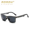 AORON Mens Polarized Sunglasses Aluminum Magnesium Sun Glasses Driving Glasses Rectangle Lens For Men Eyewear