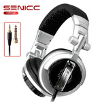 SENICC ST-80 Professional Stereo Studio Monitor Headphone 3.5mm 6.3mm Jack DJ Headphone 2.5m Extension Cord Gamer Headset for DJ