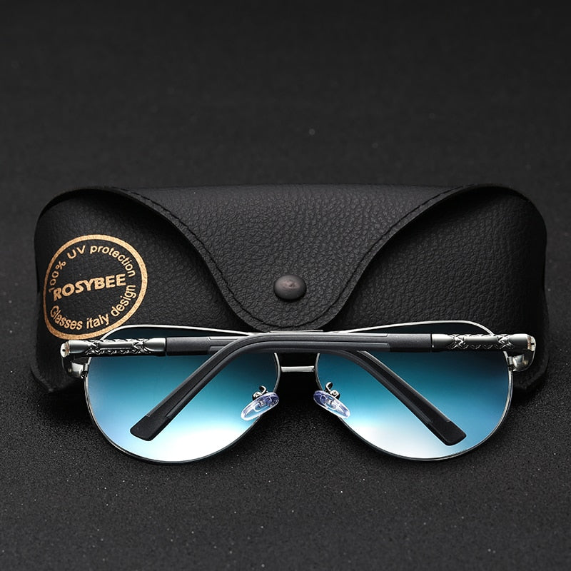 BIG size Men Vintage Aluminum Polarized Sunglasses Brand Sun glasses metal aviation  Large Driving banned Shades For Men/Women