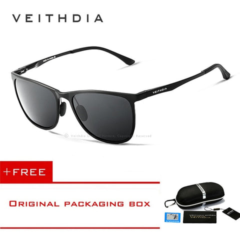 VEITHDIA Brand Design Aluminum Magnesium Men's Mirror Sunglasses Polarized Lens Vintage Eyewear Driving Sun Glasses For Men