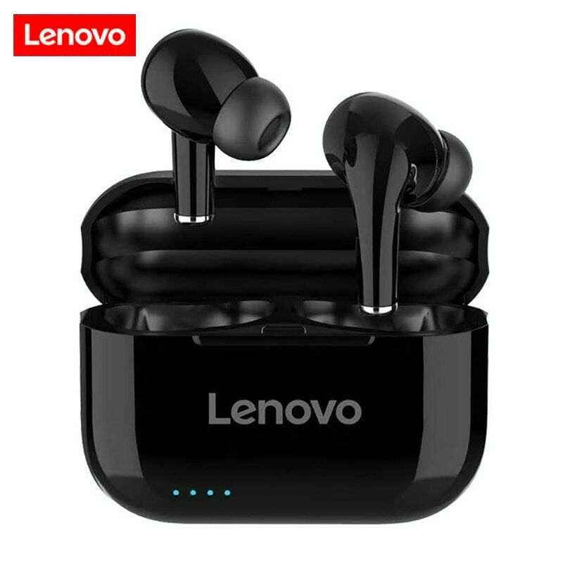 NUOVO Originale Lenovo LP1S Bluetooth Wireless True 5.0 Cuffie HIFI STEREO BASS- mostra il titolo originale