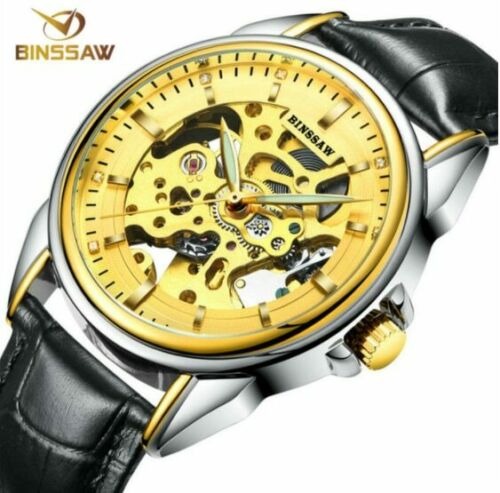 Limited Watch Men Automatic Mechanical Tourbillon Luxury Business Leather
