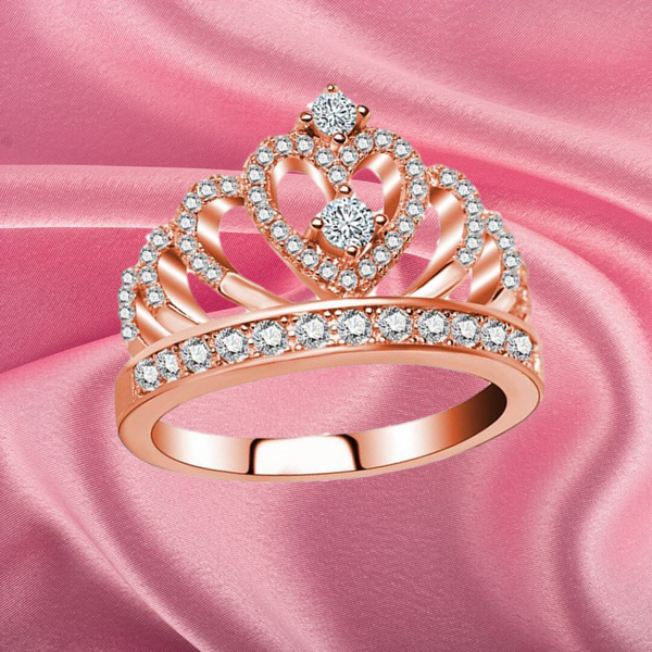 Princess Tiara Rose Gold Ring
