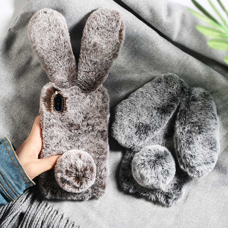 Plush Rabbit Ear Phone Case