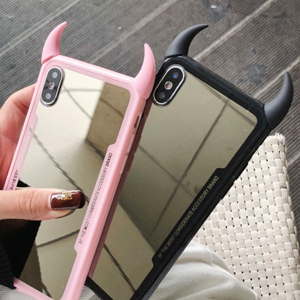 Devil Horn Mirror Case