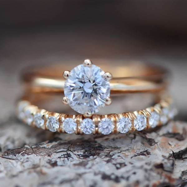 Olivia Crystal Engagement Ring Set