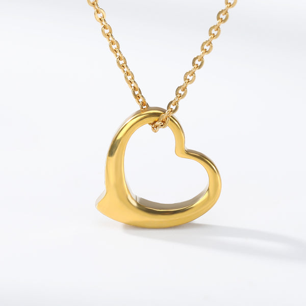 Romantic Open Heart Pendant Necklace