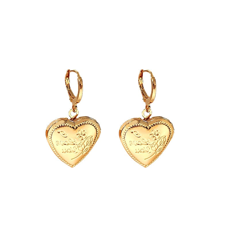 """I'm Devoted"" Locket Earrings"